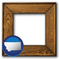 montana a wooden picture frame