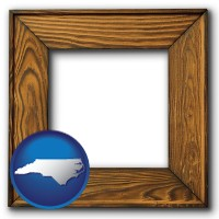 north-carolina a wooden picture frame
