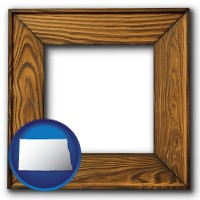 north-dakota a wooden picture frame