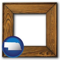 nebraska a wooden picture frame