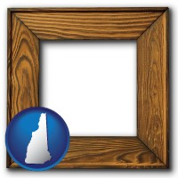new-hampshire a wooden picture frame