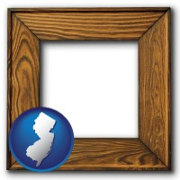 new-jersey a wooden picture frame