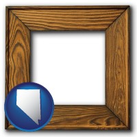 nevada a wooden picture frame
