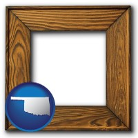 oklahoma a wooden picture frame