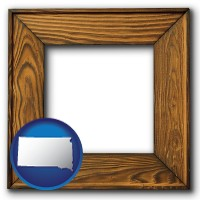 south-dakota a wooden picture frame
