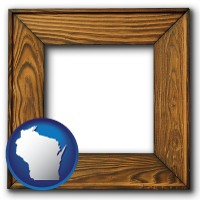 wisconsin a wooden picture frame