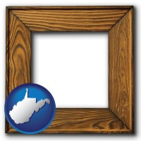 west-virginia a wooden picture frame