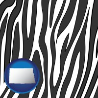 north-dakota a zebra print