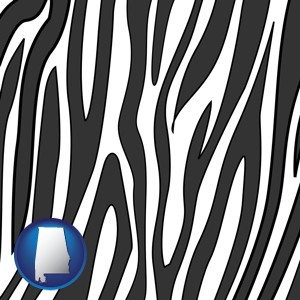 a zebra print - with Alabama icon