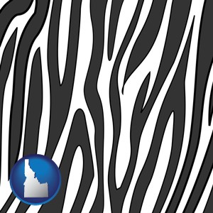 a zebra print - with Idaho icon