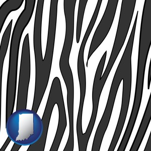 a zebra print - with Indiana icon