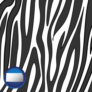 a zebra print - with Kansas icon