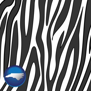 a zebra print - with North Carolina icon