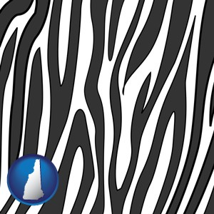a zebra print - with New Hampshire icon