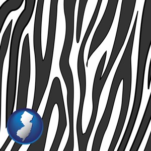 a zebra print - with New Jersey icon