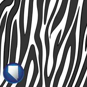 a zebra print - with Nevada icon