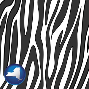 a zebra print - with New York icon