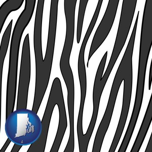 a zebra print - with Rhode Island icon