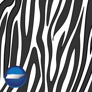 a zebra print - with Tennessee icon