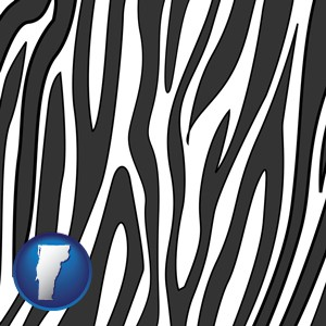 a zebra print - with Vermont icon
