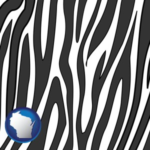 a zebra print - with Wisconsin icon