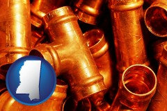 mississippi copper tee pipe connectors