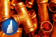 new-hampshire copper tee pipe connectors