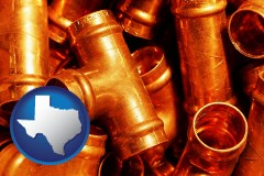 texas copper tee pipe connectors