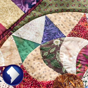 a patchwork quilt - with Washington, DC icon
