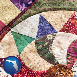 a patchwork quilt - with Florida icon