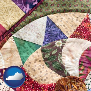 a patchwork quilt - with Kentucky icon