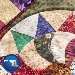 a patchwork quilt - with Maryland icon