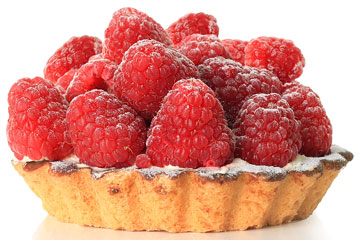 a red raspberry tart