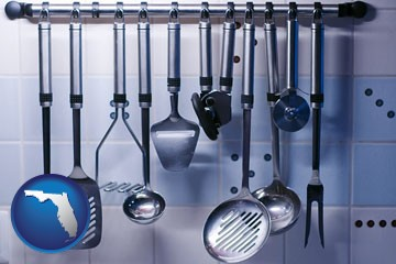restaurant kitchen utensils - with Florida icon