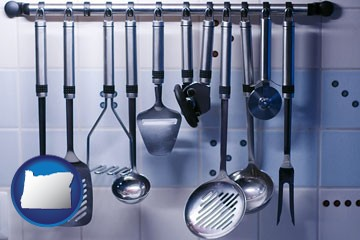 restaurant kitchen utensils - with Oregon icon