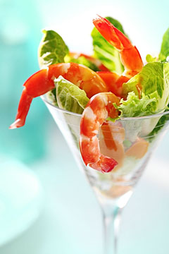a shrimp cocktail