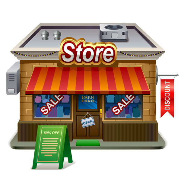 retail store illustration