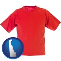 delaware a red t-shirt