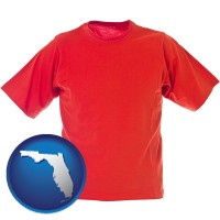 fl a red t-shirt