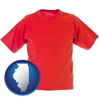 il map icon and a red t-shirt