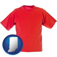 indiana a red t-shirt