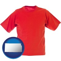 ks map icon and a red t-shirt