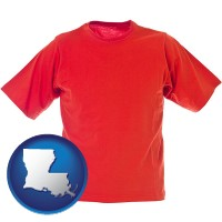 louisiana a red t-shirt