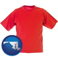 md a red t-shirt