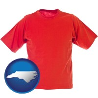 nc map icon and a red t-shirt