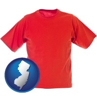 new-jersey a red t-shirt