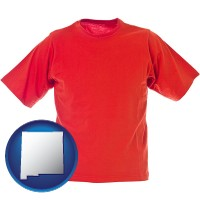 nm map icon and a red t-shirt