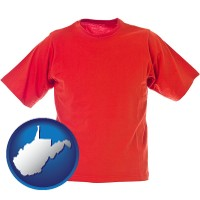 west-virginia a red t-shirt