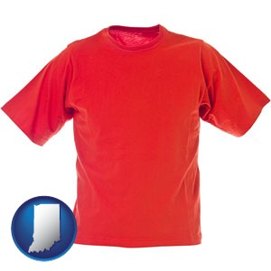 a red t-shirt - with Indiana icon