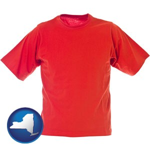 a red t-shirt - with New York icon